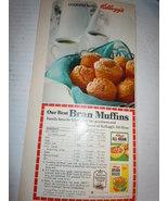 Vintage Kellogg's All Bran Muffin Recipe Print Magazine Advertisement 1968 - $3.99