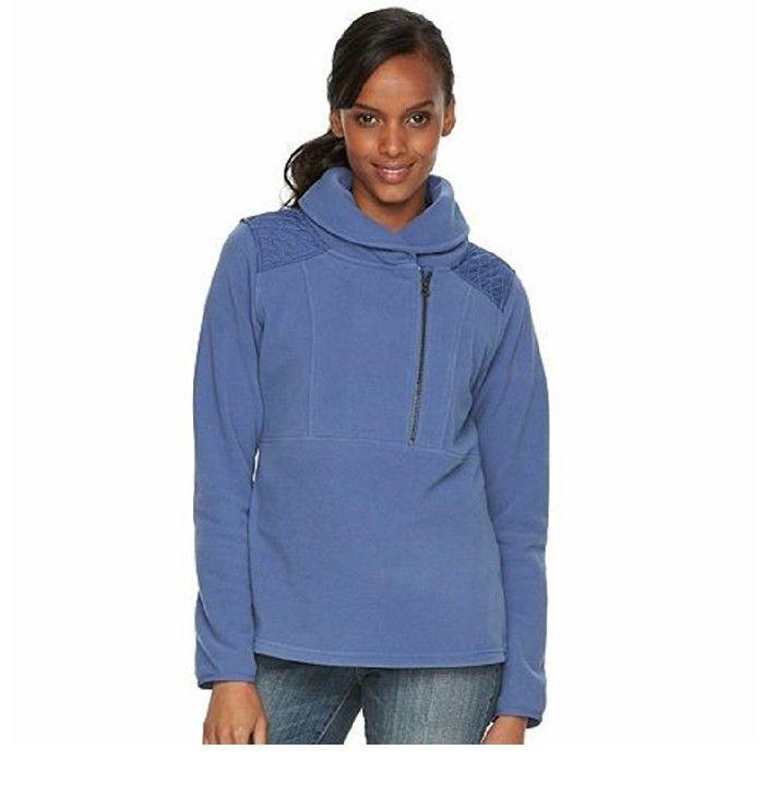 Columbia Lake Mary fleece half zip blue sz small MSRP $75.00 - $39.98