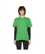 MARINE SERRE Short Sleeve Graphic T-Shirt Red and Green - $158.00