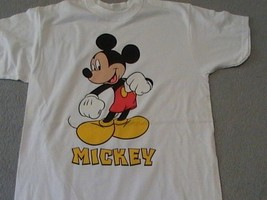 Mickey Mouse on a Large (L) New White tee shirt  - $20.00