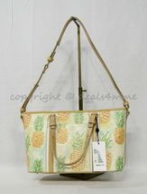 NWT Brahmin Mini Asher Leather Satchel/Shoulder Bag in Multi Pompano image 11