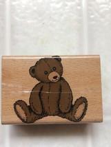StampCraft Wood Mount Rubber Stamp - 440H38 Sitting Teddy Bear - $8.59