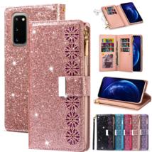 k1) shine Leather wallet FLIP MAGNETIC BACK cover Case for Samsung Galaxy model - $56.99