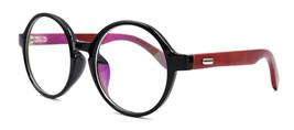 Vintage Wooden Oversized Eyeglass Frames Retro Womens Mens Round Rx-able Eyewear - $12.99