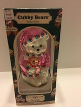 Santas Best Cubby Bear European Glass Mouth Blown Ornament 1997 - $9.49