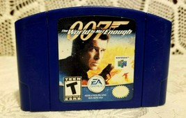 Nintendo 64  007 The World Is Not Enough Video Game Authentic Blue Cartr... - $10.69