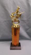 Halloween flying witch trophy wide orange column  jack-o-lantern - £5.38 GBP