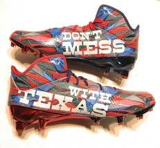 Adidas Size 12 Adizero 5 Star 5.0 Don't Mess With Texas Football Cleats ... - $31.67