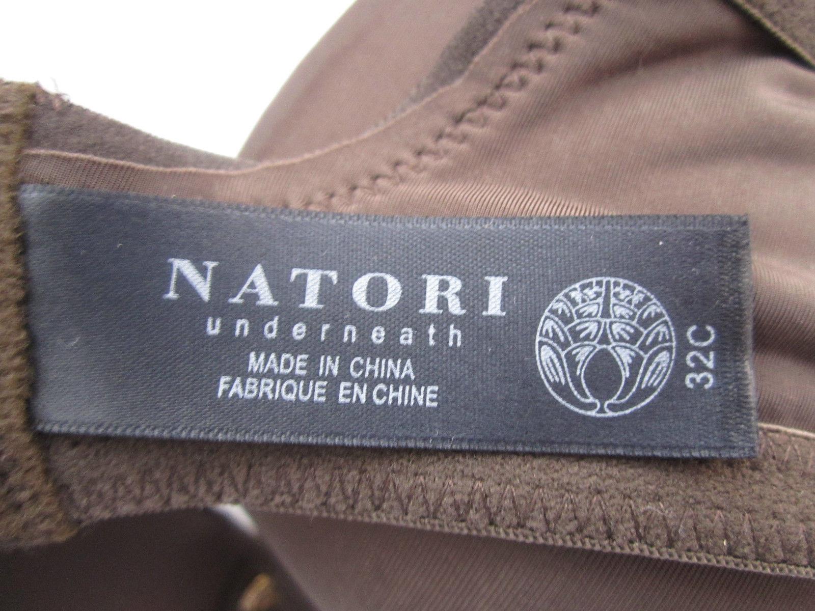 de891b0290 Natori 136001 Body Double Lace Trim FullFit Contour UW Bra Mahogany 32C  MSR 70