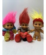 3 Russ Troll Birthday Clown Pink , Fireman Yellow, Prisoner Of Love Soft... - $14.80