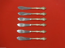 "Vivaldi by Alvin Sterling Silver Trout Knife Set 6pc. HHWS  Custom Made 7 1/2"" - $366.80"