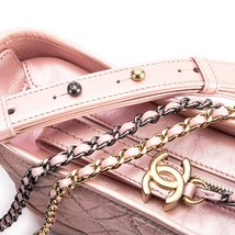 BRAND NEW AUTH Chanel 2019 IRIDESCENT CALFSKIN Pink Small Gabrielle Hobo Bag   image 6