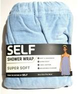 SELF Shower Wrap, Super Soft, Absorbent, 100% Cotton Blue, One Size Fits... - $19.77