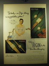 1950 Elgin Watches Advertisement - Ann Blyth - So lovely - $14.99