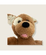 "Build A Bear Brown Sugar Puppy Dog White Patch Eye 14"" Pink Tongue 2010 - $12.19"