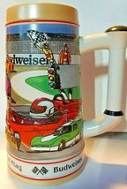 Budweiser Sports Stein 1991 Chasing the Checkered Flag CS132 Limited Edition - $21.16