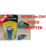 2 pcs Monster Cable ULTRA HDMI-to-DVI Video Adapter Female Male Gold Con... - $9.79