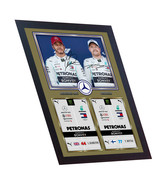 New Lewis Hamilton Valtteri Bottas signed autographed print photo FRAMED - $21.79