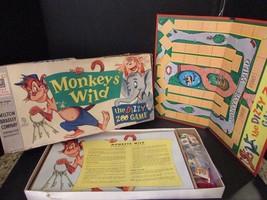 VTG 1958 MILTON BRADLEY GAME MONKEYS WILD #4812 THE DIZZY ZOO GAME COMPLETE - $24.49