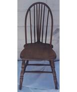 Antique Windsor Bow Back Side Chair - Solid Wood - WONDERFUL BOW BACK DE... - $89.09