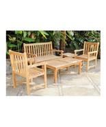 Teak Outdoor Wooden Armchair Table or Bench  Patio Garden Yard Deck Mix ... - $149.98+