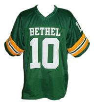 Allen Iverson #10 Bethel High School Men Football Jersey Green Any Size image 4