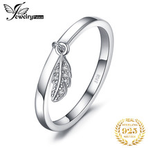 JewelryPalace Dangle Leaf Charm Rings 925 Sterling Silver Rings for Wome... - $19.34