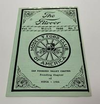 Model T Ford Club Of America Vol. 11 No. 3 March 1988  - $11.83