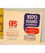 1970 Los Angeles Rams Football Schedule Glendale Federal Savings #E- - $19.75