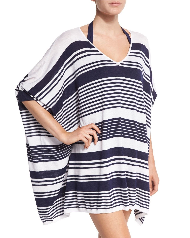 NWT Tommy Bahama V-Neck Striped Oversized Sweater Beach Swim Coverup XS, $122