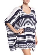 NWT Tommy Bahama V-Neck Striped Oversized Sweater Beach Swim Coverup XS,... - €34,81 EUR