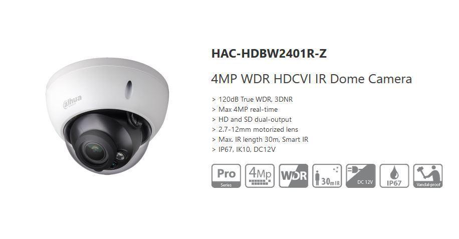 CMHT1722WE HD TVI 2MP Ultra Low Light WDR 3.6mm Len 131ft IR Turret Dome Camera