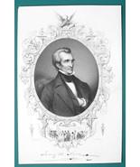 JOHN ADAMS President - 1856 Portrait Print Ornamental Border - $16.20