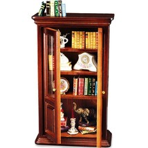 Dollhouse Filled Bookcase Display 1.717/2 Reutter Wood Miniature  - $122.15