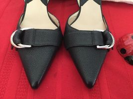Michael Kors  Womens High Heel Slingback Black Leather  Sz 7M image 3