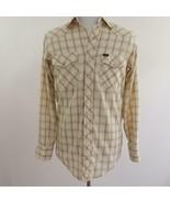 Lee Western Cowboy Plaid Pearl Snap Front Shirt Mens Sz 15 1/2 x 34 - $30.22