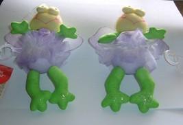 "Russ Spring Recital Ballerina Frog 5.5"" tall Purple Tutu 2 Frogs w/tags - $5.89"
