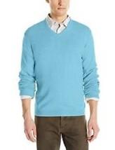 Calvin Klein Men's Sweater Sz XXL Blue Mist Heather Cotton Modal Blend V... - $39.53