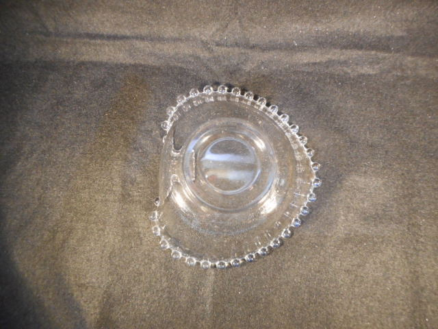 Vintage Imperial Candlewick Clear Glass Heart Shaped Candy Dish