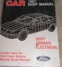 1987 LINCOLN TOWN CAR Service Shop Repair Manual BODY CHASSIS ELECTRICAL... - $17.77
