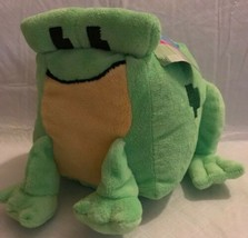 "Nanco Pixel Plush Stuffed Green Frog Square Soft Minecraft Inspired NWT 7"" - $6.92"