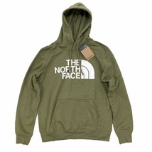The North Face Men's Half Dome Pullover Hoodie Burnt Olive Green Standar... - $45.99