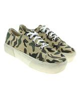 No Boundaries Womens Tan Camo Platform Canvas Sneakers Size 6 - $20.04