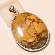 American Picture Jasper Gemstone 925 Sterling Silver Jewelry Fine Pendant Gifts - $19.53