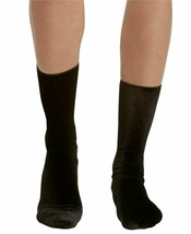 Hue Women's Black Velvet Crew Socks One Size New w Tags U190099