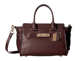 New Coach Women Swagger 27 Carryall Leather Satchel Bag Variety Colors - $359.99