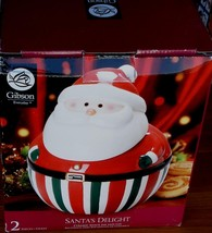 Gibson Santa's Delight Cookie Jar With Lid - Brand New Box - Super Cute Jar - $39.59
