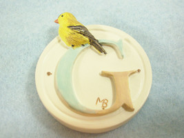 Marjolein Bastin Letter G Goldfinch Bird Message Magnet Initial Hallmark - $7.43