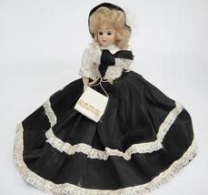 "Vintage Hard Plastic 7"" Doll Sleep Eyes Blonde Mohair Traditional Dress ... - $14.84"