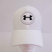 Under Armour Golf Embroidered White Baseball Cap Hat Sz M - L - $19.25